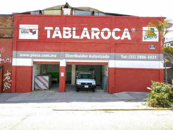 Fachada Sucursal PIESA Tablaroca Colón Sur Guadalajara