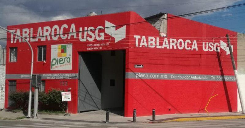 Fachada Sucursal Parres Arias PIESA Tablaroca Guadalajara